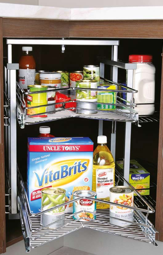 g nikpol chrome corner wireware pull out lazy susan combination